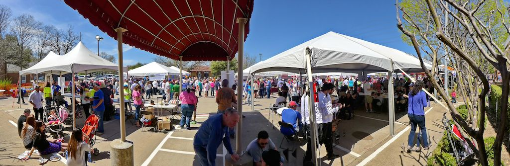 panorama view at dallas kosher chili cook-off