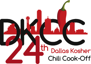 24 years of yummy kosher chili-showing the dallas skyline