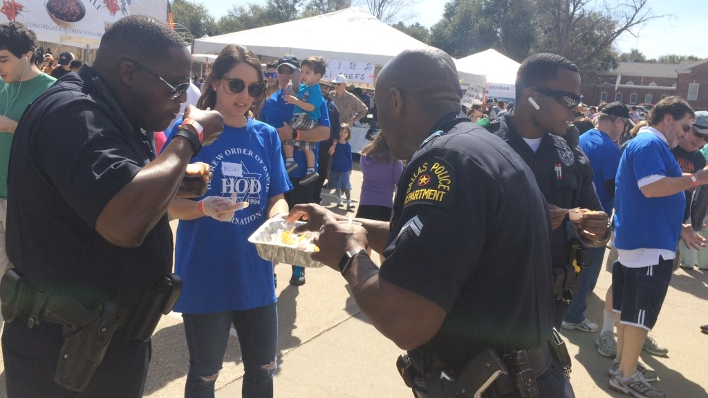 police provide security overnight and during the cook-off