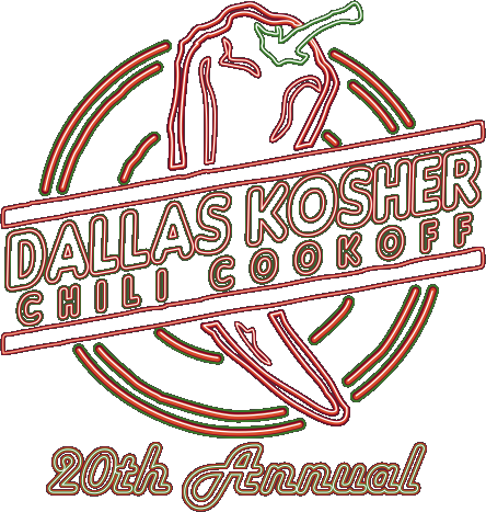 dallas kosher chili cook-off logo.