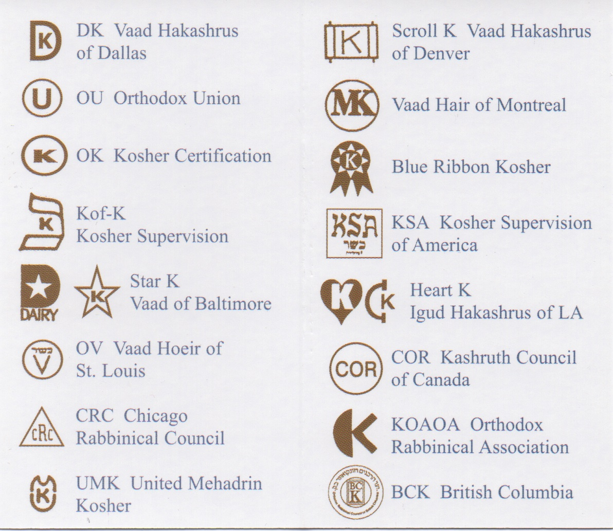Kosher Certifications